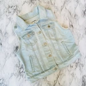 Old Navy light wash jean vest size small